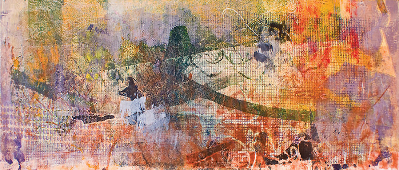 "Africa Embrace 1 – 2008-2009 – Mixed Media on Paper – 26 3/8"" h x 95"" w"