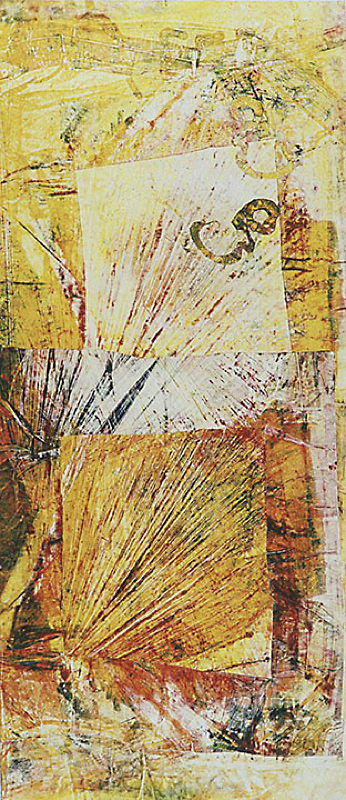 "Life's Energy #1 - 1994-1997 - Mixed Media on Paper - 48"" w x 96"" h"